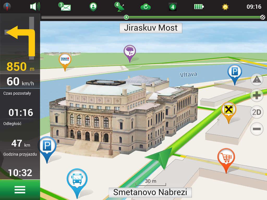 Главное окно программы Навител Навигатор
