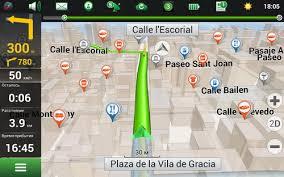 Интерфейс программы Навител Навигатор на испанском языке